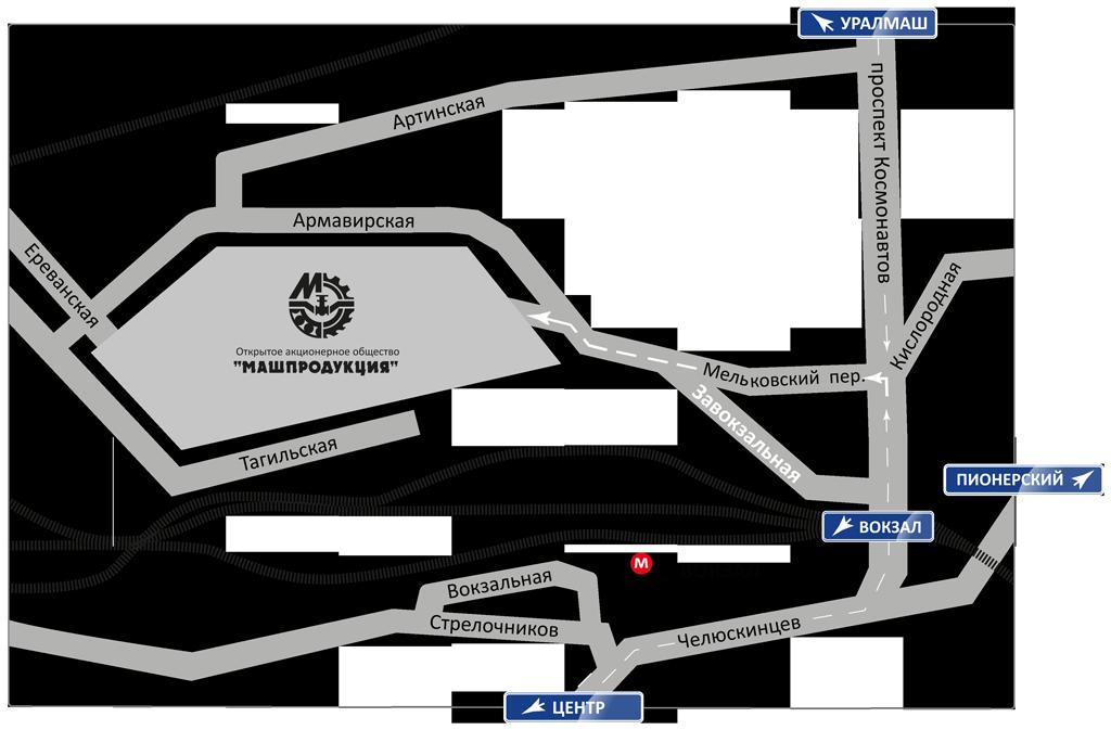Карта проезда - ОАО «